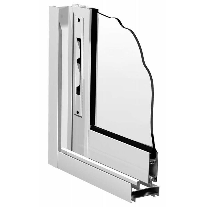 Окно provedal-раздвижная (алюминий), цвет 00 белый (рама p c.
